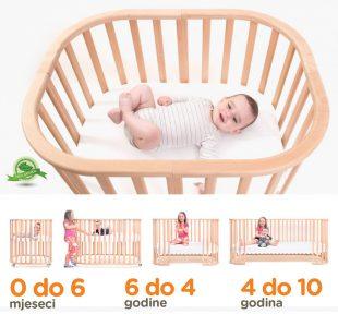 Dječji drveni krevet Noona 7