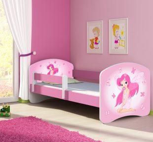 Dječji krevet rozi s bočnom stranicom