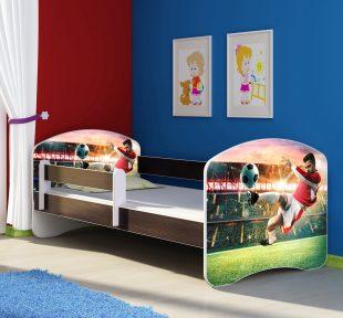 Dječji krevet wenge s bočnom stranicom