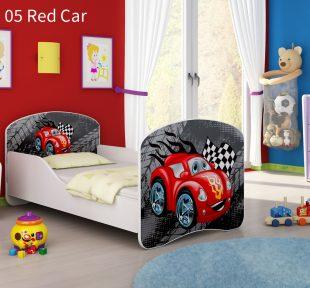 Drveni dječji krevet 05 Red Car