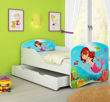 Drveni dječji krevet s ladicom