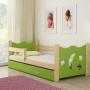 Drveni dječji krevet s ladicom zeleni