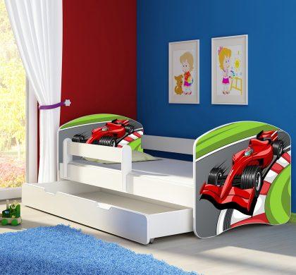Dječji krevet bijeli s bočnom stranicom i ladicom