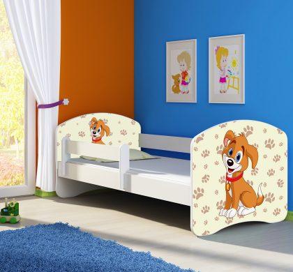 Dječji krevet bijeli s bočnom stranicom naslovna