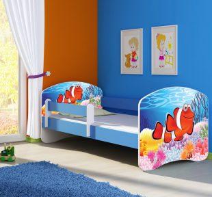 Dječji krevet plavi s bočnom stranicom naslovna