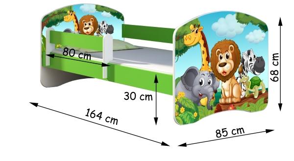Wymiary 160x80 zielone
