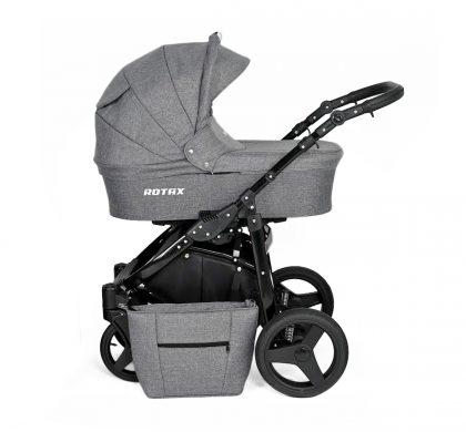 Dječja kolica Kunert Rotax crna rama - siva (svijetlija) naslovna