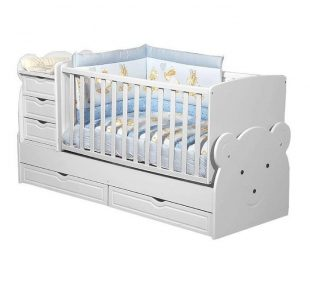 Dječji krevet kinderbet Medo bijeli