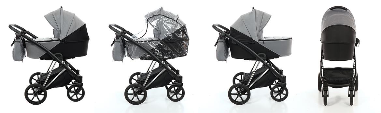 Dječja kolica TAKO Jumper V boja 03 tamno-sivo-crna galerija 001