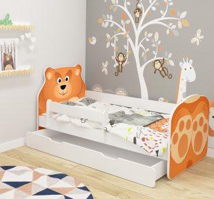 Dječji krevet ACMA s ladicom, ANIMALS medo